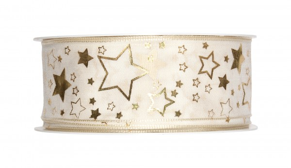 Druckband Sterne, 40mm, 1 Rolle = 25m
