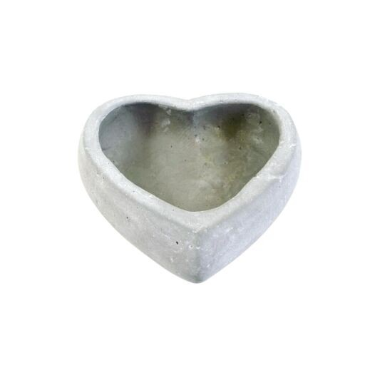 Herz Schale aus Zement D17 H 5,5cm (#140229000)