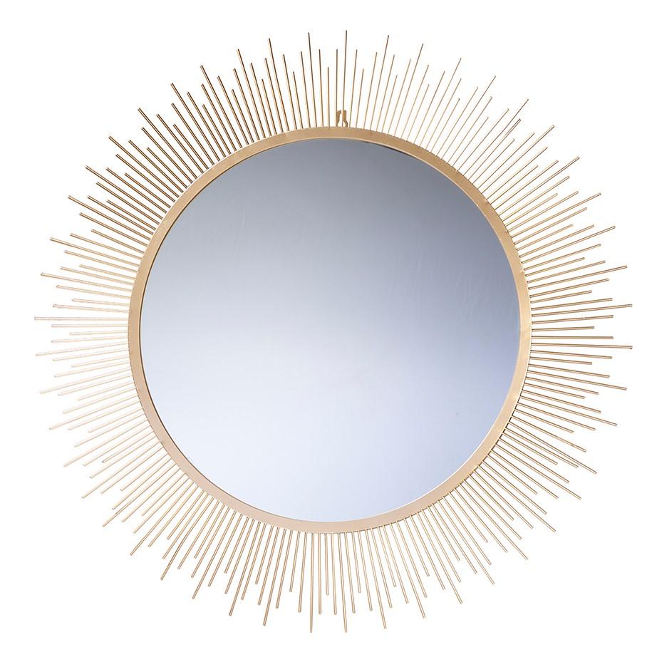 Spiegel mit Goldrand D80H1,2cm, Ve. 1 (#152874000)