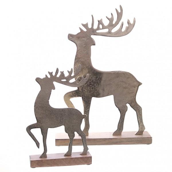 Hirsch auf Holzständer 19x5x28,5cm, 1St.