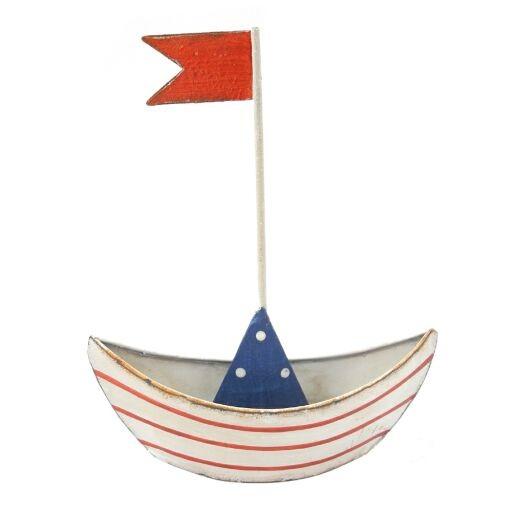 Boot mit Fahne 18 x 14 x 4,5cm, Ve. 1 (#153510037)