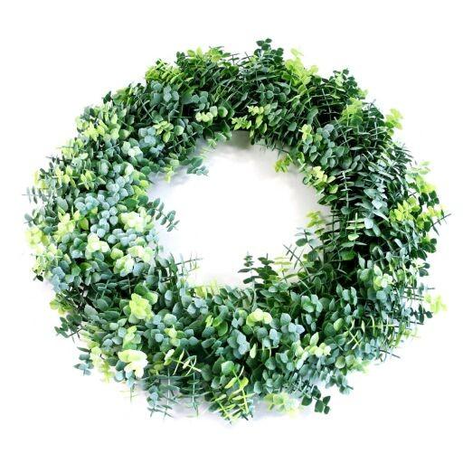 Blätterkranz D40cm, Farbe: grün, Ve. 1 (#180366044)