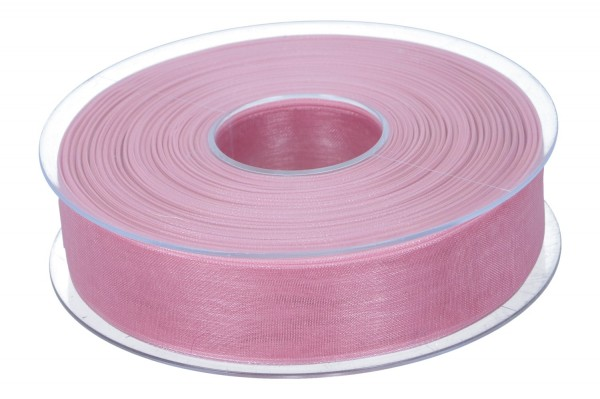 Beauty Organdy Band 25mm, 50m, alt rosa