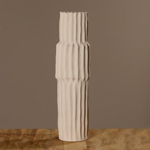 Vase D21cm, H73cm, sand, Ve. 1