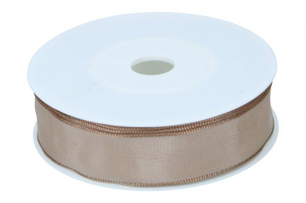 Formb. Drahtkantenband 25mm, 25m, natur