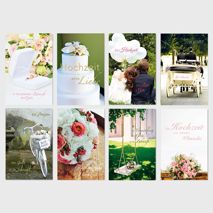 Glückwunschkarten ' Zur Hochzeit'