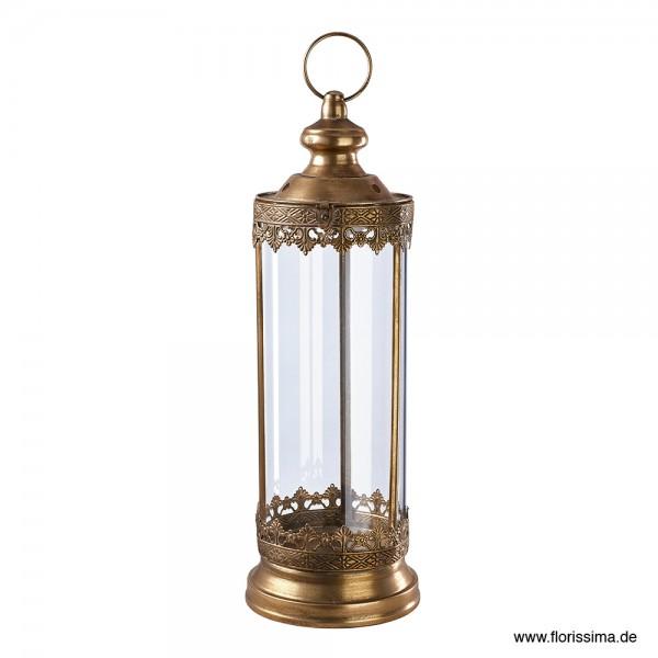Laterne mit Glas Ø18,5cm, Höhe 52cm