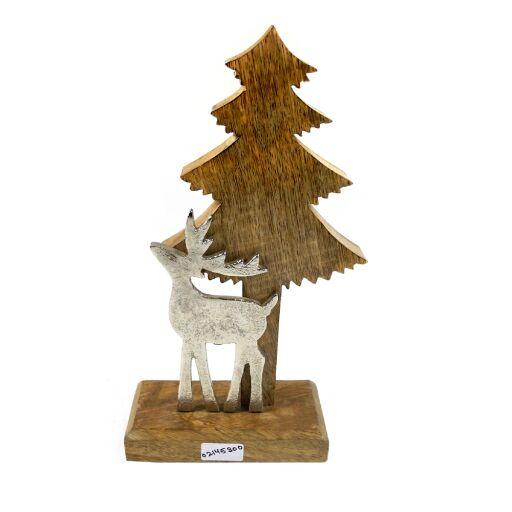 Baum mit Hirsch auf Holzständer, 1 Stück
