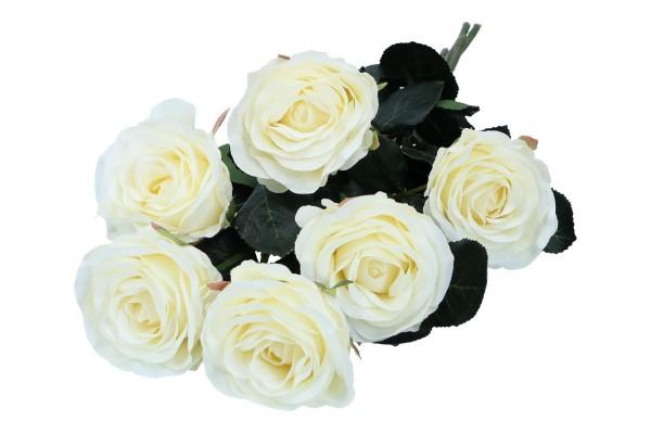 Rose Länge 37cm, 1 Bund = 6 Rosen