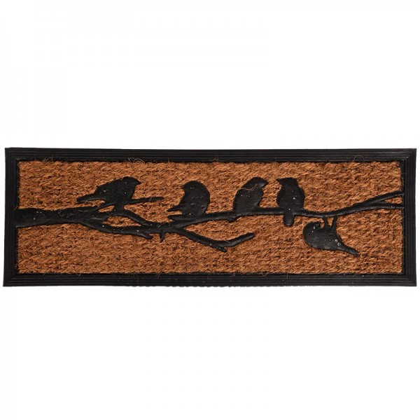 Türfußmatte Vögel auf Ast 76,5x24cm, 1St
