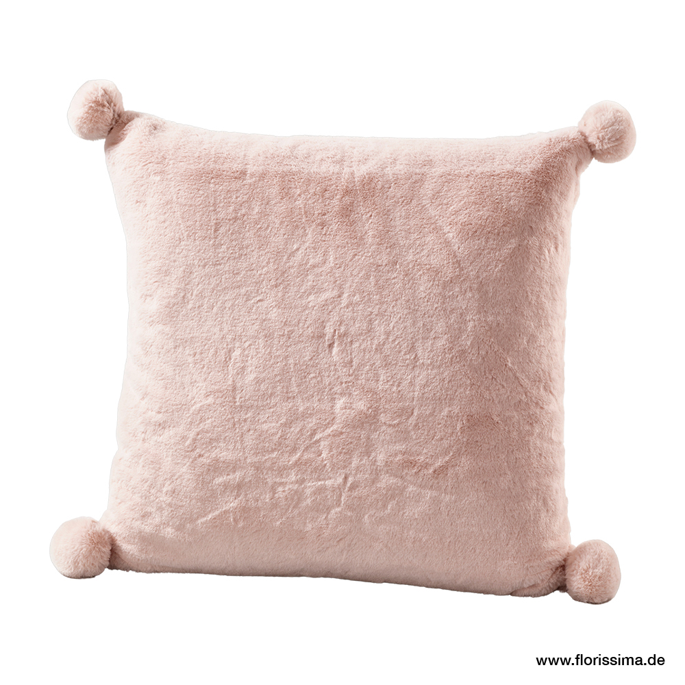 Kissen aus Samt mit Bommel 45x45cm (#200347010)