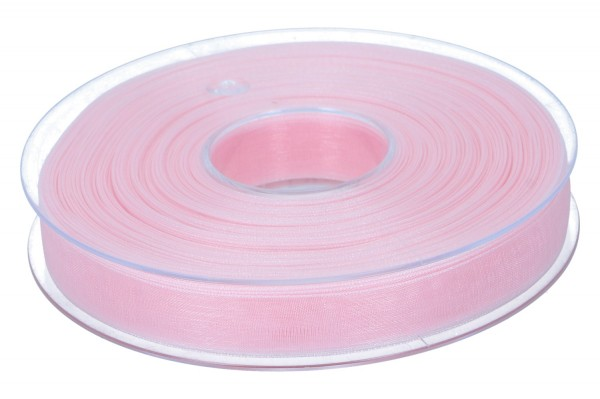 Beauty Organdy Band 15mm, 50m, alt rosa