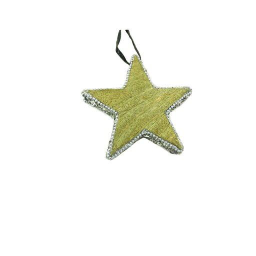 Sternhänger mit Pailetten, 10cm, 3 Stück