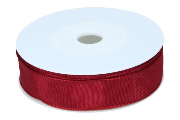 Formb. Drahtkantenband 25mm, wein rot
