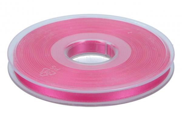 Satinband 6mm, 25m, rosa-schockierend