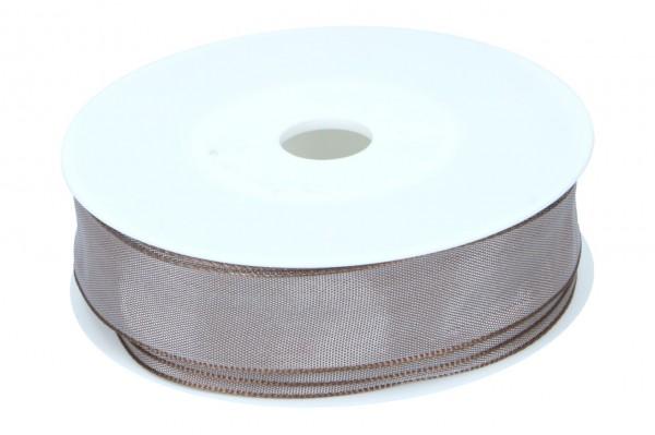 Formb. Drahtkantenband 25mm, hell braun