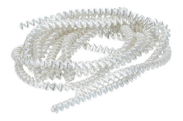 Bouillondraht Jumbo Silber, 100gr.