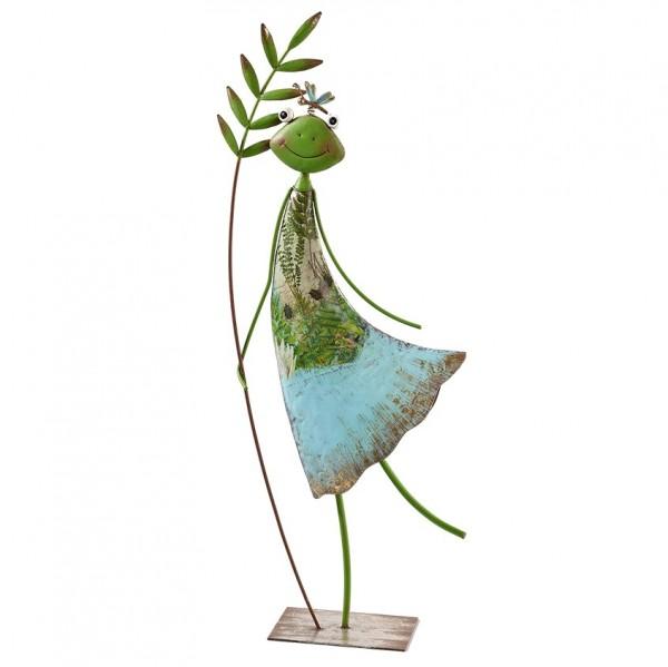 Froschfrau mit Blatt H60cm, Ve. 1 (#153405000)