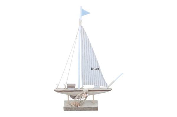 Segelboot mit Netz 20 x 36cm, 1 Stück