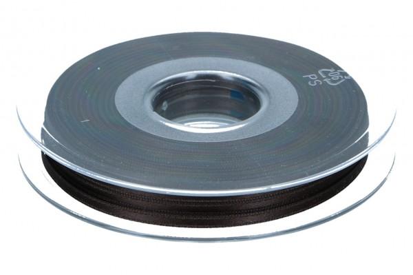 Satinband 3mm, 50m, dunkel braun