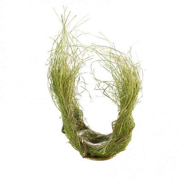 Schale aus Rebe und Gras 20x25cm, VE=1 (#220370000)