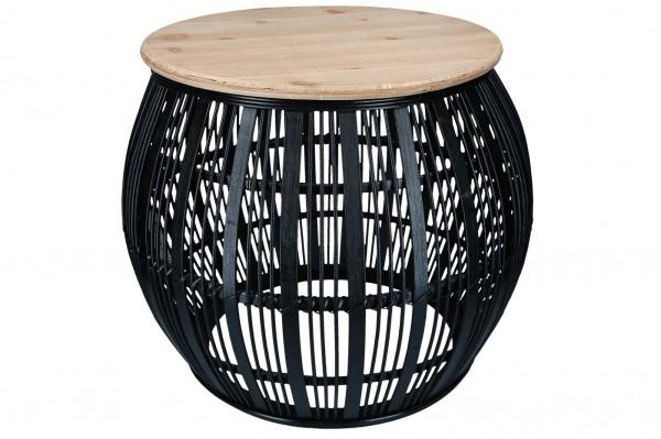 Tisch mit Holzplatte, D55 H 45cm, Ve. 1 (#153642000)