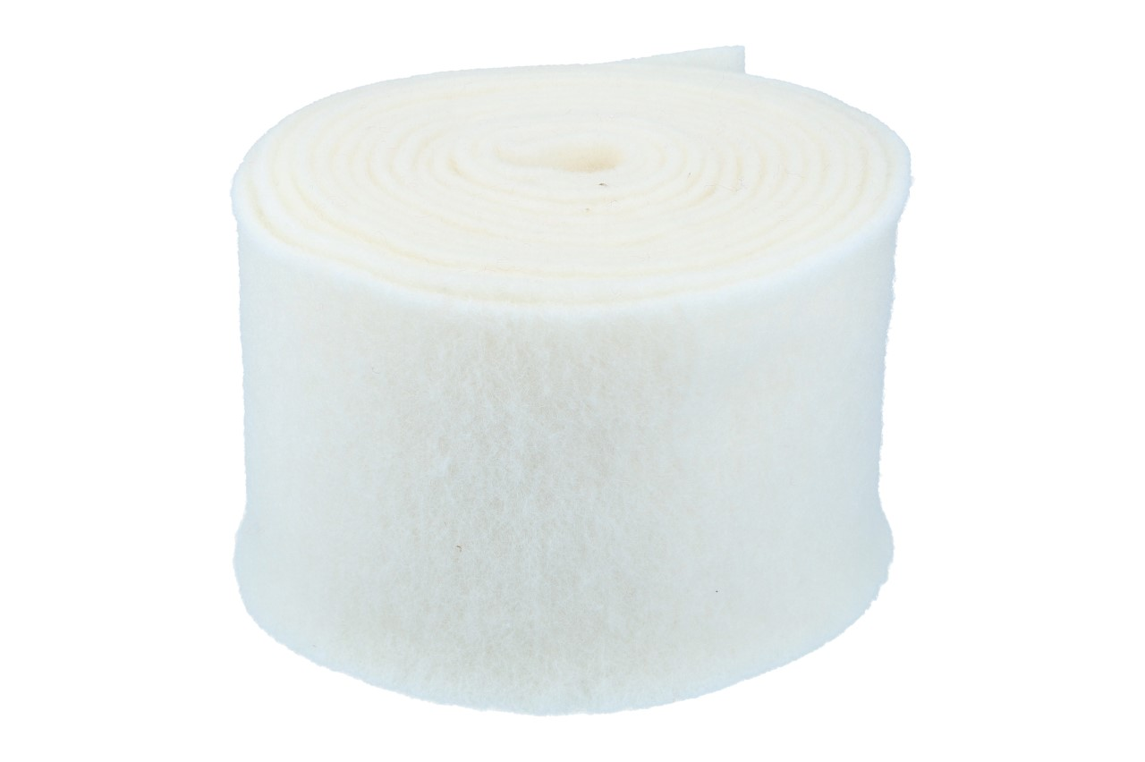 Topfband 15cm, 5m, woll-weiss