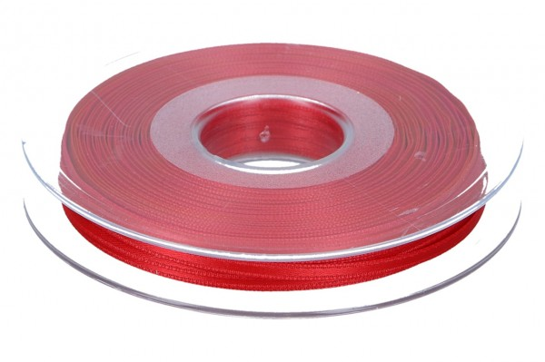Satinband 3mm, 50m, rot