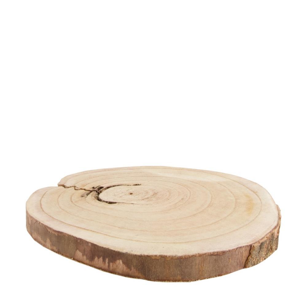Holzscheibe aus Paulownia-Holz D30 H3cm
