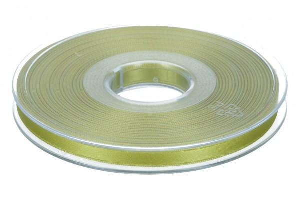 Satinband 6mm, 25m, hell grün