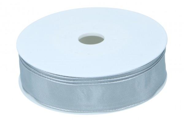 Formb. Drahtkantenband 25mm, hell grau
