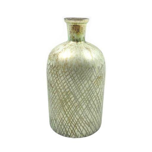 Vase'Flasche mit Rillen' D13 H28cm (#120511019)