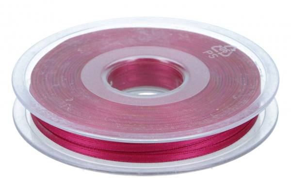 Satinband 3mm, 50m, fuchsia