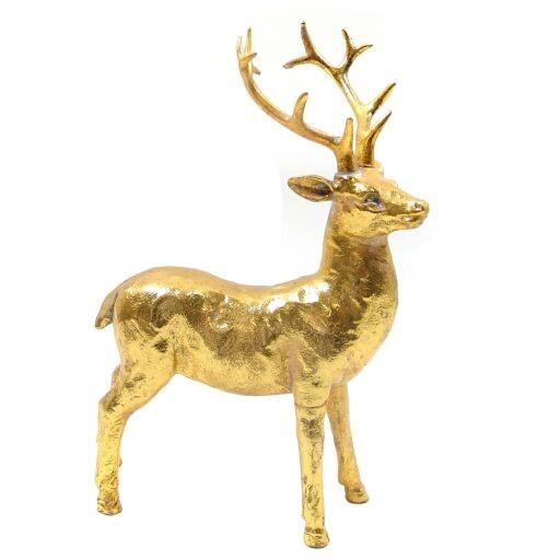 Hirsch 18x25cm GOLD Ve = 1 Stück