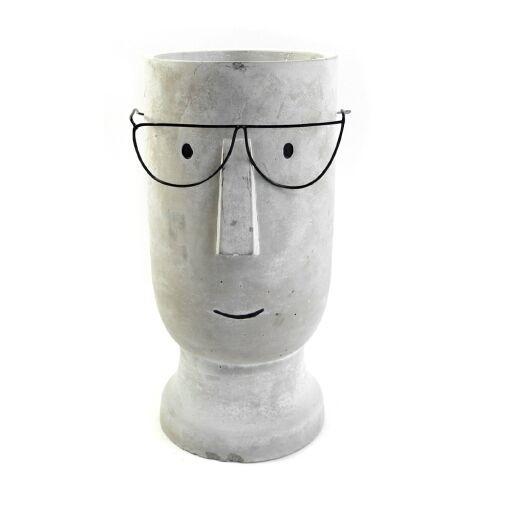 Vase mit Gesicht Ø15cm Höhe 28cm, 1Stück