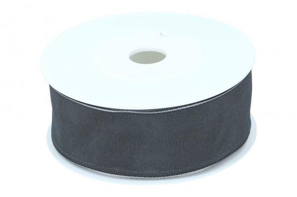 Formb. Drahtkantenband 40mm, dunkel grau